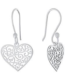 Filigree Heart Drop Earrings, Created for Macy's