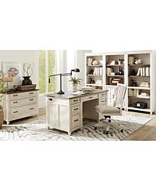 Dawnwood Home Office, 5-Pc. Set (Executive Desk, Office Chair, Open Bookcase, Open Bookcase, Door Bookcase)