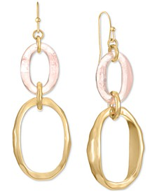 Gold-Tone & Stone Link Double Drop Earrings, Created for Macy's