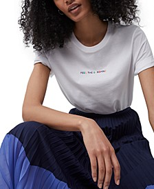 Cotton Feel The Sunshine Embroidered T-Shirt