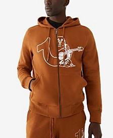 Men's Half Logos Zip up Hoodie
