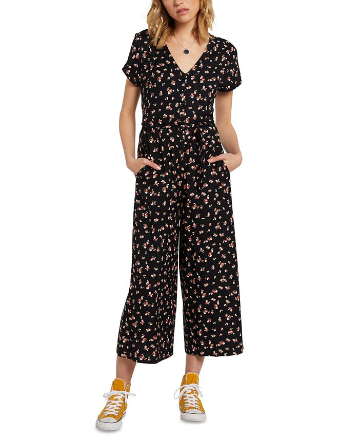 Volcom - Juniors' Cropped Jumpsuit