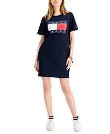Cotton Flag-Logo T-Shirt Dress