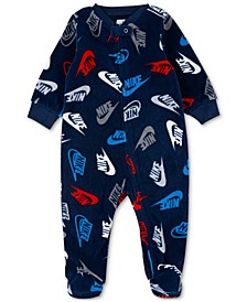 Baby Boys Microfleece Printed Coverall