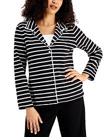 Striped French Terry Jacket, Created for Macy's