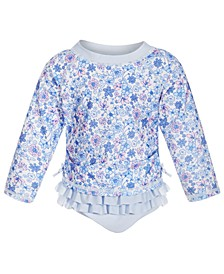 Toddler Girls 2-Pc. Ditsy Floral Rash Guard, Created for Macy's