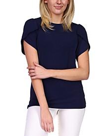 Tulip-Sleeve Knit Top, Regular & Petite Sizes
