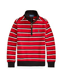 Little Boys Striped Quarter-Zip Pullover