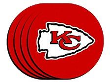 Kansas City Chiefs 4pack Neoprene Coaster Set