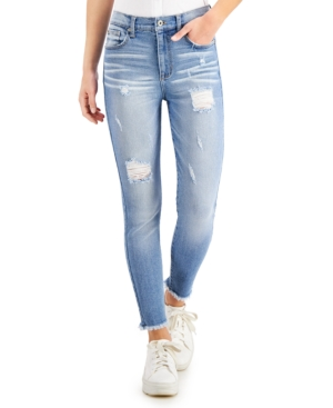 Juniors' High Rise Ripped Skinny Jeans