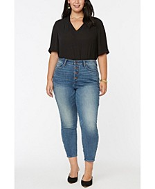 Women's Plus Size Ami Skinny Jeans with High Rise and Exposed Button Fly