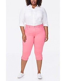 Plus Size Marilyn Crop with Fray Cuff Jeans