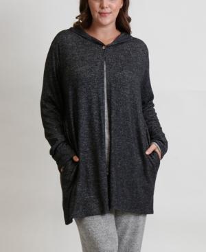 Women's Plus Size Cozy Hoodie Cardigan