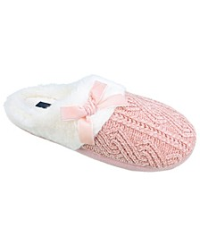 Women's Chenille Knit Clog Slipper