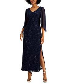 Petite Sequin Lace Gown