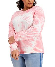 Plus Size Spiral Tie-Dyed Sweatshirt
