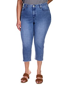 Plus Size Cropped High-Rise Skinny-Leg Jeans