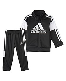 Toddler Boys Zip Front Bold Pack Jacket and Pant Set