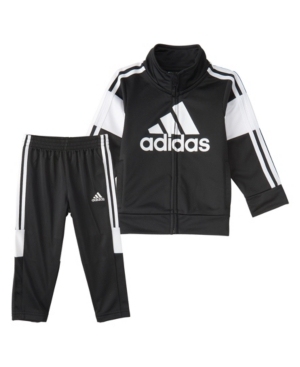 Adidas Originals LITTLE BOYS ZIP FRONT BOLD PACK JACKET AND PANT SET