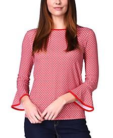 Flare-Sleeve Top, Regular & Petite Sizes