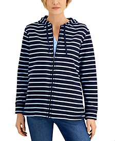 Long Striped Hoodie, Created for Macy's
