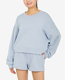 Juniors' Balloon-Sleeve Sweatshirt