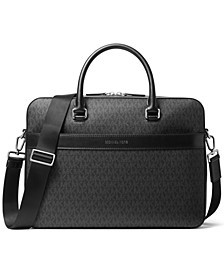 Men's Signature Explorer Faux-Leather Briefcase