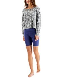 Super Soft Crew Sleep Top & Bike Shorts, Created for Macy's