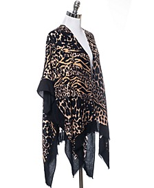 INC Mixed Animal Pashmina Ruana, Created for Macy's