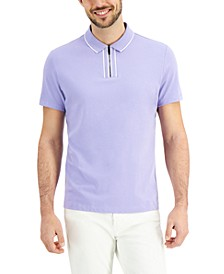 Men's Tipped Zip Polo Shirt, Created for Macy's