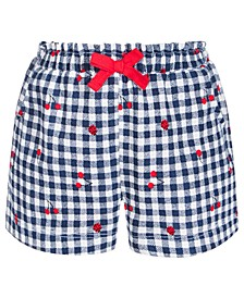 Baby Girls Gingham Cherry Cotton Shorts, Created for Macy's