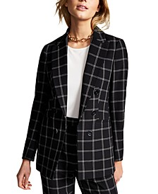 Windowpane Jacket, Created for Macy's