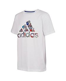 Big Boys Short Sleeve Badge of Sport Doodle T-shirt