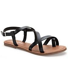 Roxxie Asymetrical Flat Sandals, Created For Macy's