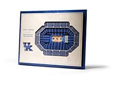 Kentucky Wildcats 5 Layer Stadiumviews 3D Wall Art