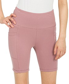 Juniors' Side Pocket Biker Shorts