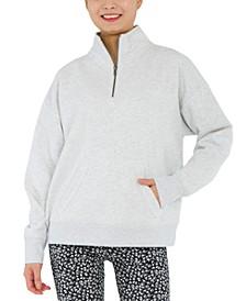 Juniors' Quarter-Zip Sweatshirt