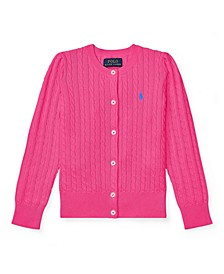 Toddler Girls Mini Cable Cardigan
