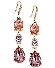 Crystal & Stone Linear Drop Earrings, Created for Macy's