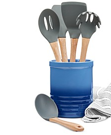 5-Pc. Kitchen Utensil Set & Crock, Created for Macy's
