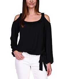 Cold-Shoulder Top, Regular & Petite