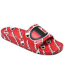 Men's IPO Mega Script Slide Sandals from Finish Line