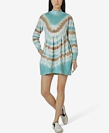 Juniors' Tie-Dyed Sweatshirt Dress