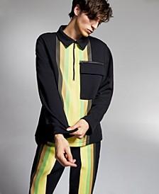 Allen Onyia for INC Men's Regular-Fit Colorblocked Stripe 1/2-Zip Sweatshirt, Created for Macy's