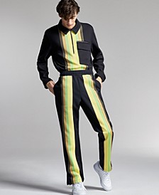 Allen Onyia for INC Men's Regular-Fit Colorblocked Stripe Track Pants, Created for Macy's