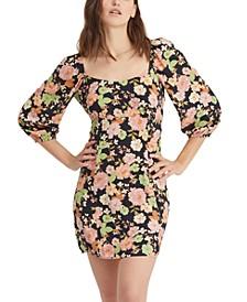 Dolce Floral-Print Mini Dress