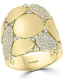 EFFY® Diamond Wide Disc Statement Ring (3/4 ct. t.w.) in 14k Gold