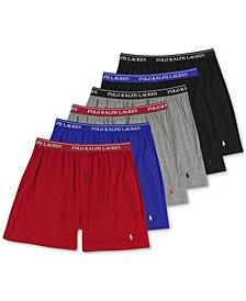 Men's 5-Pk Cotton Knit Boxers + 1 Bonus Pair