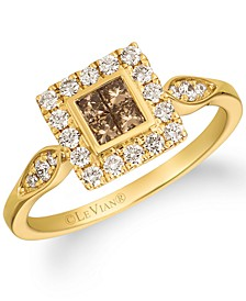 Chocolate Diamond® & Nude Diamond™ Halo Ring (5/8 ct. t.w.) in 14k Gold