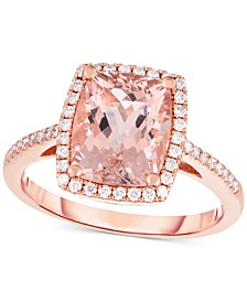 Morganite (2-3/4 ct. t.w.) & Diamond (1/4 ct .t.w.) in 14k Rose Gold